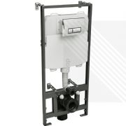 CYCLONE CONCEALED UNIVERSAL 1.17M - 1.37M WALL HUNG WC FRAME AND CISTERN WITH FLUSH PLATE